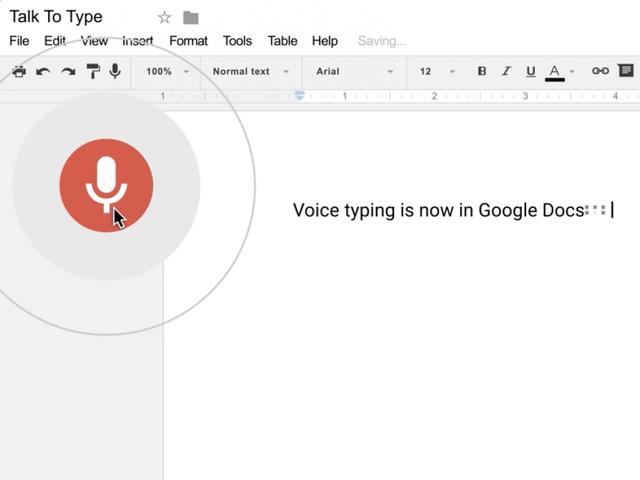 how to talk into google docs