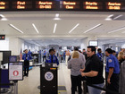 Holiday travelers find fast airport lines