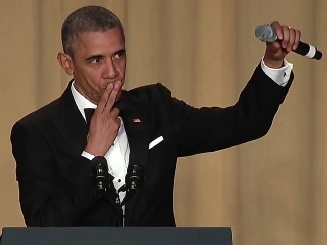 President Obama drops the mic at his final Correspondents' Dinner