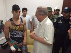 Mexican soccer player Alan Pulido rescued