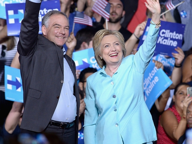 Clinton introduces running mate Tim Kaine