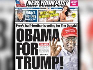 Barack Obama's half brother plans to vote Trump