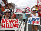 More than 50 Bernie Sanders supporters detained