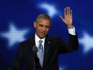 Obama passes baton to Clinton during DNC speech