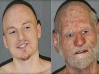 Cops: 'Elderly man' was fugitive in disguise