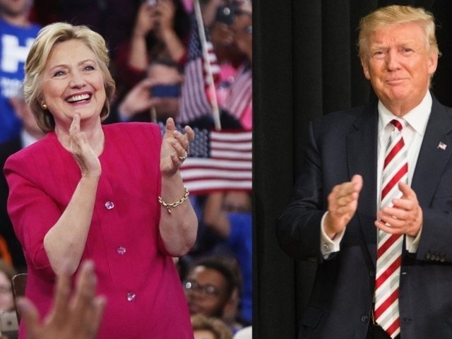 Donald Trump, Hillary Clinton running neck and neck