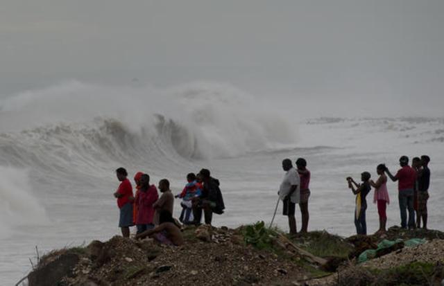 Image result for hurricane matthew hitting haiti