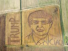 Trump portrait mowed into Italian cornfield