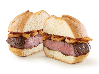 Arby's serving sandwiches with deer meat