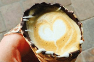 Coffee in a cone is the latest craze