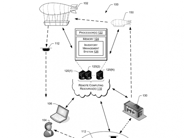 Amazon patents show flying warehouses that send delivery drones to your door