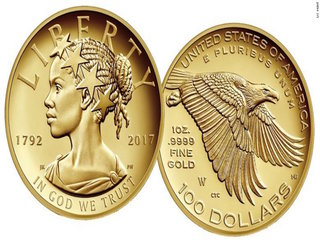 Lady Liberty portrayed as black woman on US coin