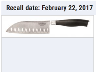 Calphalon knives recalled for laceration hazard