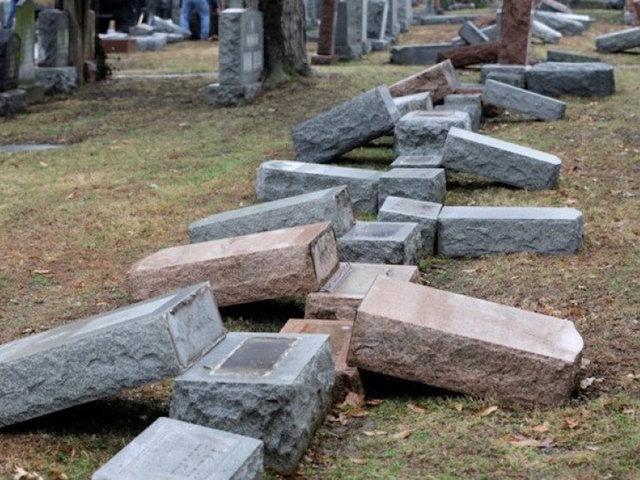Dozens of Headstones Broken at Philadelphia Jewish Cemetery