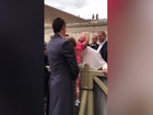 Video: Little girl tries to steal Pope's hat