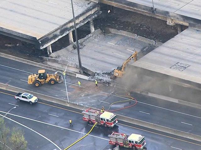 Atlanta begins 1st full workweek since major bridge collapse