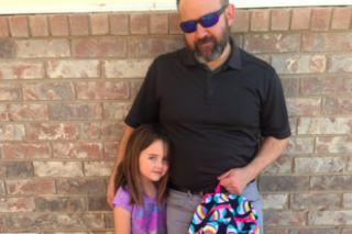 Dad's great reaction after daughter's 'accident'
