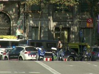 Van hits crowd in Barcelona, Spain