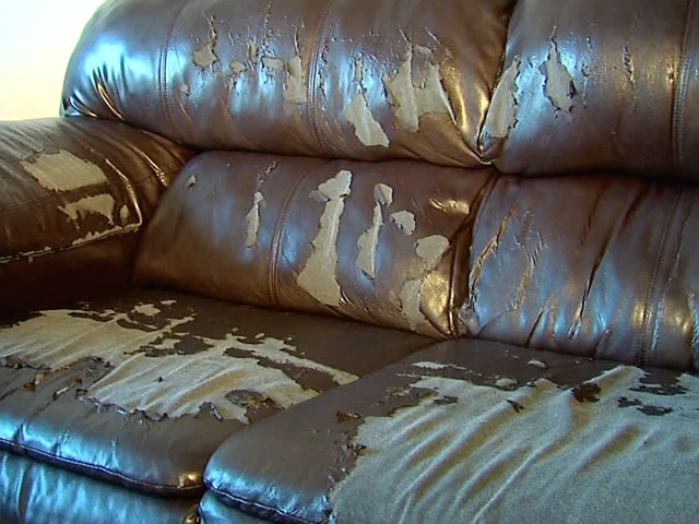 Woman S Leather Couch Peels Apart After 3 Years