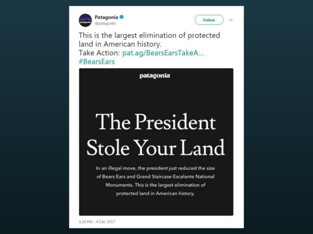 Patagonia says it will sue President Trump after he reduced the size of two monuments in Utah