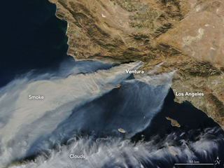 NASA captures image of wildfires from space