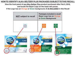Alka-Seltzer Plus products recalled