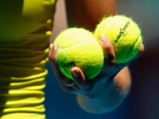 What color is a tennis ball?