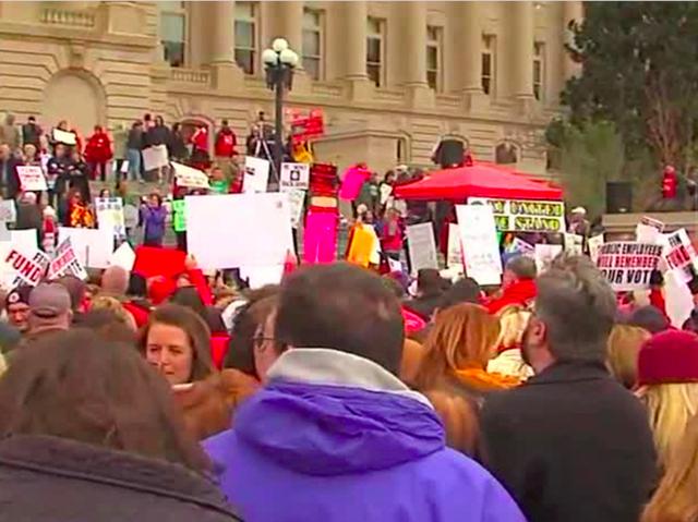 Teacher strikes shut down schools across Oklahoma, Kentucky