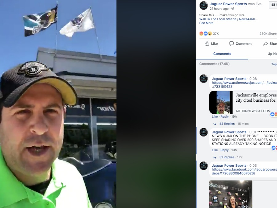 Florida Business May Continue To Fly Military Flags Thanks In Part To Viral  Video   Wptv.com
