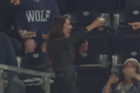 Girl catches foul ball in beer