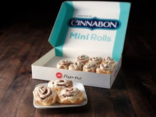Pizza Hut now delivering Cinnabon cinnamon rolls